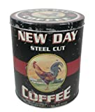 Canister - Vintage New Day Coffee Tin Reproduction - Primitive, Country Rustic Kitchen
