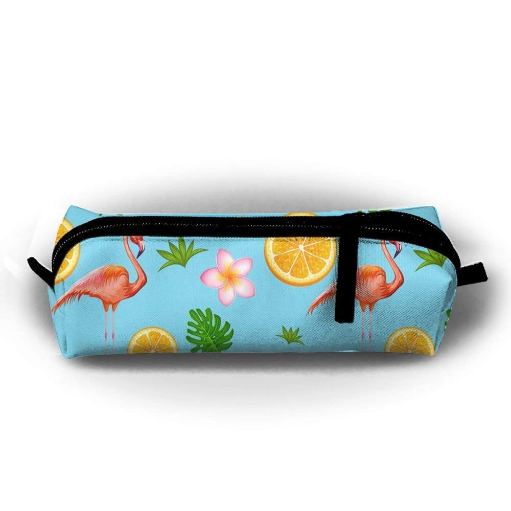 Exotic Tropical Flower and Vector Image Pencil Pen Case Bag Stationery Pouch Bag for Kids,School Student School Supplies,Office Supplies