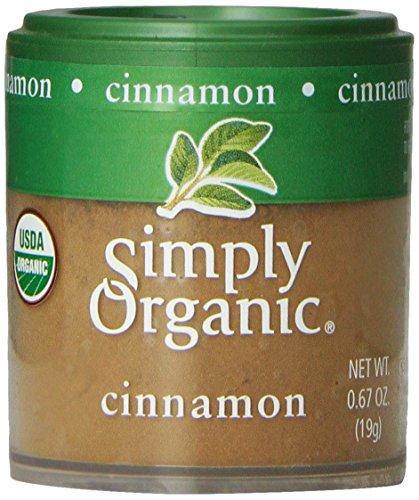Просто Organic Корица Основание (3% масла) Certified Organic, 0,67 унции контейнеры (Pack 6)