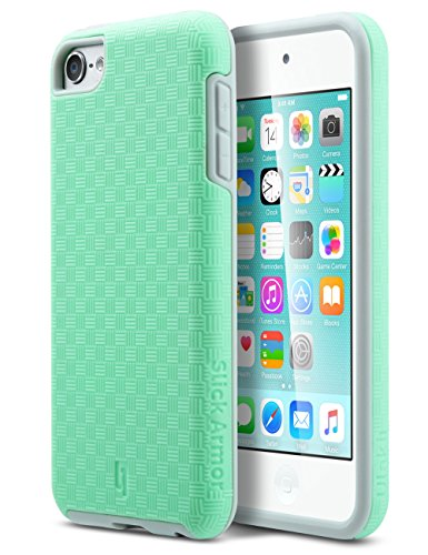 ULAK iPod 6 Case,iPod 5 Case,[ SLICK ARMOR ] Slim-Protection Case for Apple iPod Touch 6 5th Generation (Green)