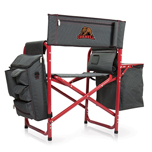 NCAA Cornell University Digital Print Fusion Chair, Dark Grey/Red, One Size by PICNIC TIME