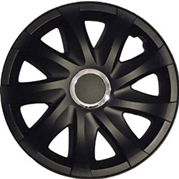 Drift Wheel Trims Hub Caps Black matt 16 Inch for Fiat Croma, Bravo, Doblo