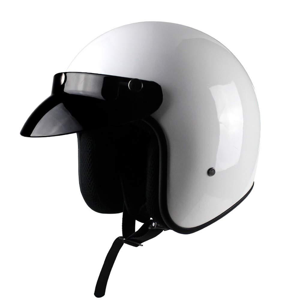 SDKUing Casque Moto Jet Homme ECE Homologu/é-Boucle /à d/égagement Rapide pratiqueDoublure Respirante Confortable Casquette d/étachable Scooter Ouvert Adulte Vintage Casque