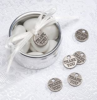 Amazoncom Charms Thank You Silver Round 20 pieces
