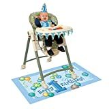 Blue 1st Birthday High Chair Decorating Kit, 4pc