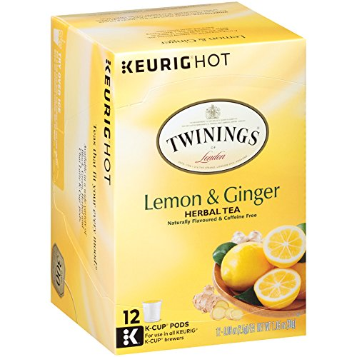 Twinings of London Lemon & Ginger Herbal Tea K-Cups for Keurig, 12 Count (Pack of 6) by Twinings (Image #7)