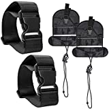 4 Pcs Add A Luggage Belt and Straps, AFUNTA Adjustable Travel Suitcase Belt Attachment Accessories for Connect Bags Together - Black