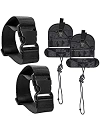 4 Pcs Add A Luggage Belt and Straps, AFUNTA Adjustable Suitcase Belt Attachment Accessories for Connect Bag Together-Black
