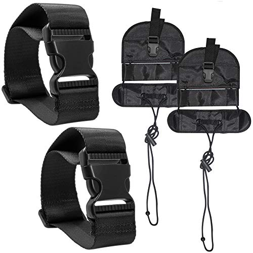 Strap Attachment (4 Pcs Add A Luggage Belt and Straps, AFUNTA Adjustable Travel Suitcase Belt Attachment Accessories for Connect Bags Together - Black)