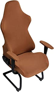 Washable Gaming Chair Covers, Elastic Spandex Armchair Seat Cover, Home Office Chairs Slipcovers, Armrest Chair Dust Protective Cover for Computer Chair Swivel Chair or More