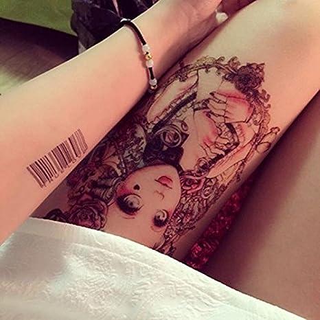 4 hojas tatuajes temporales Rosy Dangerous Sexy Cute Girl muñeca ...
