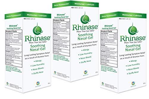 3 Pack Rhinase Nasal Gel for Allergy, CPAP, Nosebleed, Low Humidity Dry ()