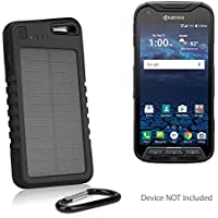 Kyocera DuraForce Pro Battery, BoxWave [Solar Rejuva PowerPack (5000mAh)] Solar Powered Backup Power Bank for Kyocera DuraForce Pro - Jet Black