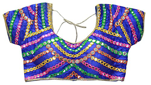 Odishabazaar Indian Moti Beaded Sari Choli Women Blouse Crop- Top Wedding Wear (Multi-4) by Odishabazaar