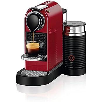 Nespresso C122-US-CR-NE Citiz & Milk Espresso Machine, Red