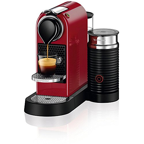 Nespresso C122-US-CR-NE Citiz & Milk Espresso Machine, Red