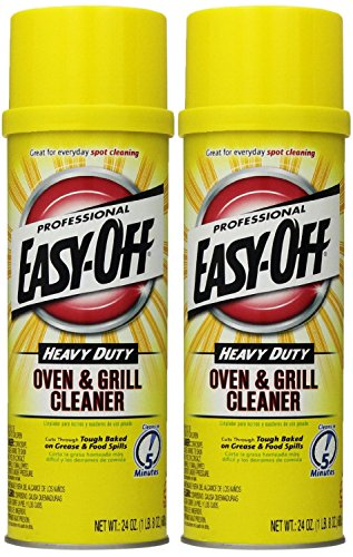 Oven Cleaner Aerosol - Easy Off Professional Oven & Grill Cleaner Aerosol, 24 oz, Pack of 2
