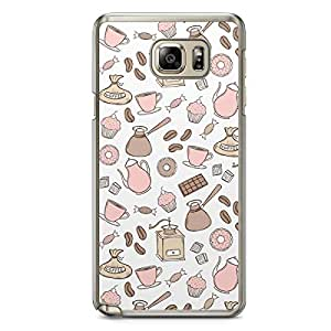 Pink Brown Samsung Galaxy Note 5 Transparent Edge Case - Bakery Collection