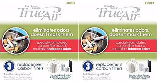 Hamilton Beach True Air Carbon Filter for Tobacco Odors 6-Pack