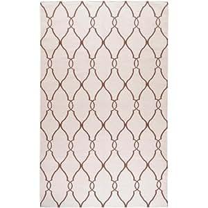 Jill Rosenwald by Surya Fallon FAL-1009 Flatweave Hand Woven 100% Wool Ivory 8' x 11' Global Area Rug