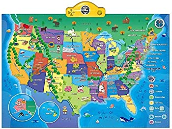 Think Gizmos Interactive Talking USA Map for Kids
