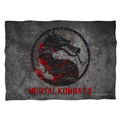 Mortal Kombat x Pietra logo Poly 20x 28Pillow case White One size