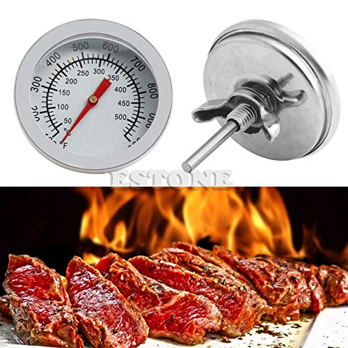 Generic Temperature Instruments Barbecue Smoker Grill Thermometer Temperature Gauge Stainless Steel 50-500C