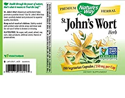 Nature\'s Way St. John\'s Wort Herb 350mg, 180 VCaps