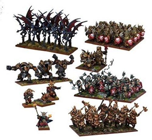 Abyssal Dwarf Mega Army SW by Kings of War - Abyssal Dwarfs 28mm