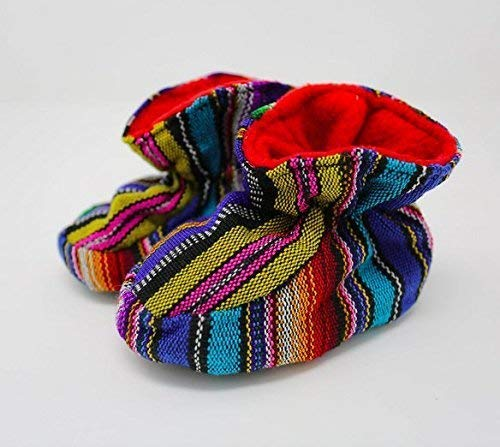 Colorful Knit Baby Booties | Soft Rainbow Baby Shoes | Handmade With Love in Guatemala by the Madres Collective