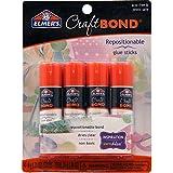 Elmer's E4020 CraftBond Repositionable Glue Sticks, 4 Sticks per Pack, 6 Grams per Stick, Clear