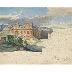 Perfect Effect Canvas ,the Amazing Art Decorative Prints On Canvas Of Oil Painting 'The Ruins Of The Imperial Palaces In Rome,1831 By Carl Rottmann', 24x30 Inch / 61x76 Cm Is Best For Kids Room Gallery Art And Home Artwork And Gifts