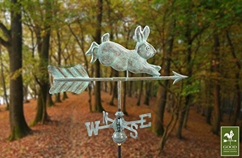Good Directions Rabbit Garden Weathervane with Garden Pole, Blue Verde Copper by Good Directions (Image #3)