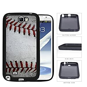 Baseball Red Stitching Close-up PC Silicone Hard Cell Phone Case Samsung Galaxy Note 2 II N7100