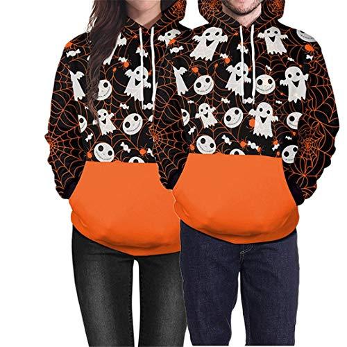 Unisex Halloween Pumpkin Head Pattern Hoodie]()