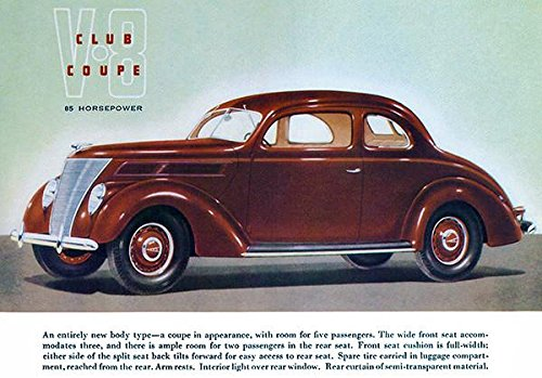 1937 Ford V-8 Club Coupe - Promotional Advertising (Ford Club Coupe)
