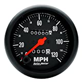 """Auto Meter 2692 Z-Series 3-3/8"""" 120 mph In-Dash Mechanical Speedometer with Trip"""