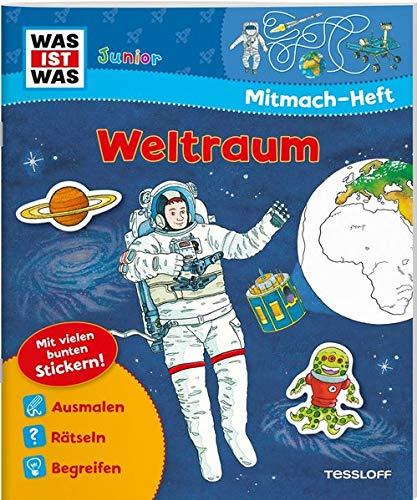 Mitmach Heft Weltraum  Spiele Rätsel Sticker  WAS IST WAS Junior Mitmach Hefte