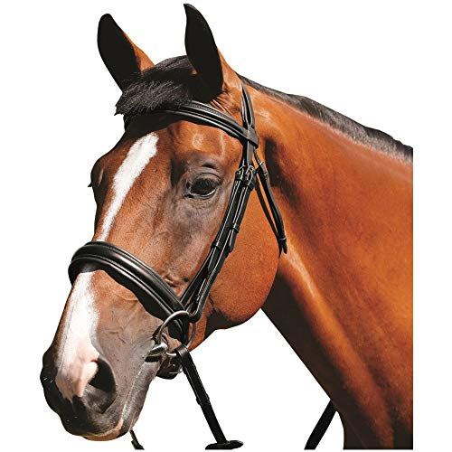 Mark Todd Padded Cavesson Snaffle Bridle Full Size Black