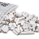 Vanvler Cigarette Rolling Machine, Blunt Fast Tobacco Maker Joint Raw Weed Roller (6MM, White 150Pcs Cigarette Rolling Paper)