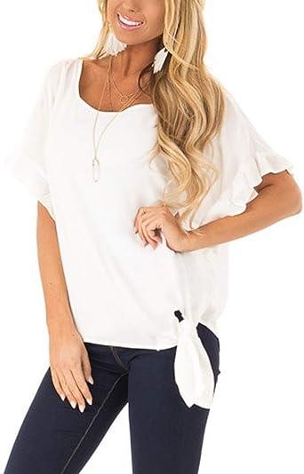 Costura Color de ContrasteTops Mujer Fiesta Lentejuelas Ronamick Moda Mujer Camisetas Deportivas Mujer Blusa Dorada Mujer Moda Mujer Camisa Roja Mujer(Blanco,XXL): Amazon.es: Iluminación