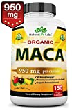 peruvian naturals - Organic Maca Root Black, Red, Yellow 950MG per capsule 150 vegan capsules Peruvian Maca Root Gelatinized 100% Pure Non-GMO supports Reproductive Health Natural Energizer