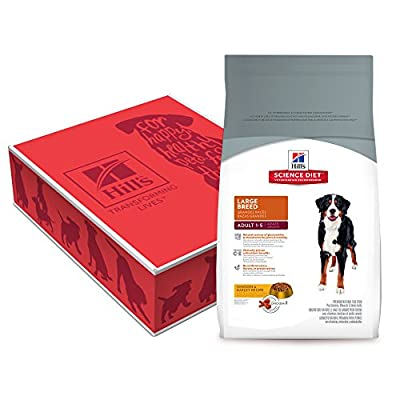Hill's Science Diet Adult Large Breed Lamb Meal & Rice Recipe Dry Dog Food Bag, 33-Pound Bag