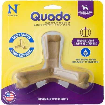 Image of Quado Interactive Dog Chew Treat, Pumpkin Flavor, Average Joe