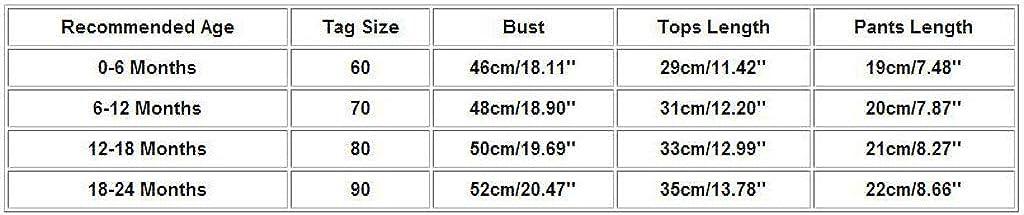 /ärmellose Florale Tanktops+Hosen 0-24 Monate DWQuee 3PC Baby M/ädchen-Kleidungs-Set