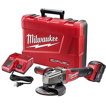 Milwaukee 2781-21 M18 Fuel 4-1/2/5 Grinder, Slide Switch Lock-On, 1 Bat Kit