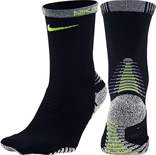 Nike Men`s NikeGrip Lightweight Crew Training Socks (Large, Black (010) / (Nike Grips)