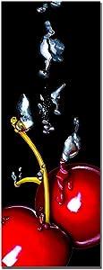 Cherry Splash by Roderic Stevens, 12x32-Inch Canvas Wall Art