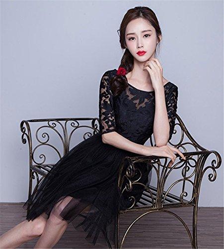 A Kleid Damen Drasawee Schwarz Linie 4qHwxw5T