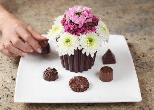 Amazon Com Joster Fleur Daily Cupcake Flower Vase Chocolate Home